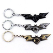 MQCHUN chauve-souris homme film thème métal porte-clés Batman film bijoux porte-clés bande dessinée figure pendentif accessoires clé cadeau