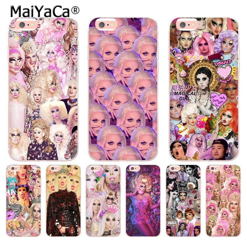 MaiYaCa RuPauls Drag Race transparente caso de la cubierta para iphone 11 Pro XR XS Max 8 7 6 6S Plus X 5 5S cubierta XS XR XSMAX