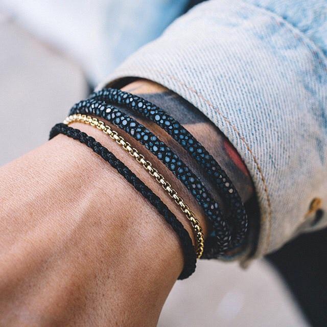 Exclusive Design Genuine Leather Strap Stainless Bracelets For Women Luxury Thailand Leather Stingray Bracelet Men 2017 pulseira