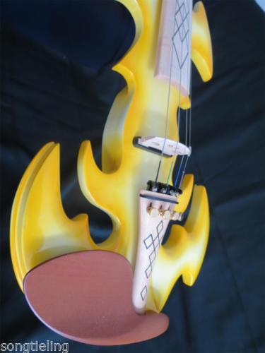 Best model fancy SONG Brand Crazy-1 art streamline yellow 4/4 electric violin enlarge
