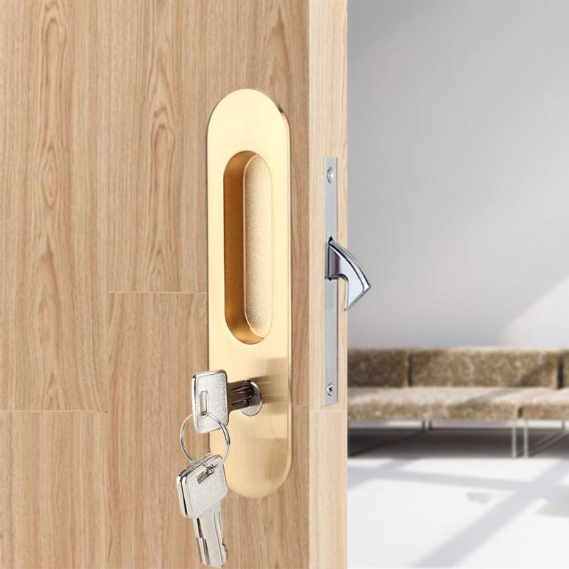 Противоугонный замок для раздвижной двери, замок с ключами для сарая, деревянная мебель, дверная защелка, замок для двойной двери, cerradura ...
