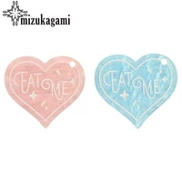 43mm 2pcslot acetic acid resin charms pink blue sweet heart romantic charms for diy jewelry making finding accessories