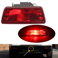 mzorange middle rear tail bumper center reflector fog light for nissan x trail t32 rogue 2014 2015 2016 abs rear tail light