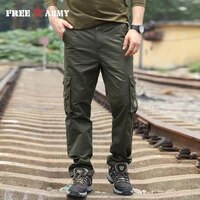 free army brand fashion mens pants safari style military trousers casual pockets solid sweatpants cargo pants male plus size 42