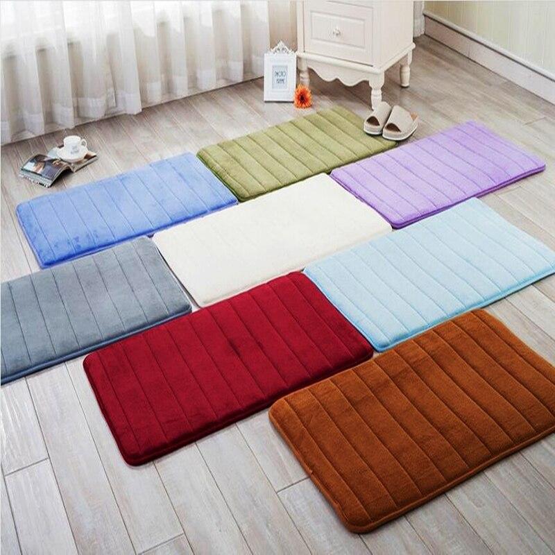 Zeegle, habitación de bebé, alfombra suave para sala de estar, alfombra de espuma viscoelástica Felpudo de bienvenida, alfombra absorbente de cocina, alfombra peluda de brillo