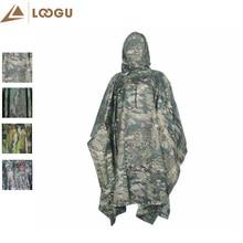 Camouflage militaire Poncho léger Multi manteau extérieur imperméable imperméable couverture de pluie cyclisme escalade Camping randonnée hommes Poncho