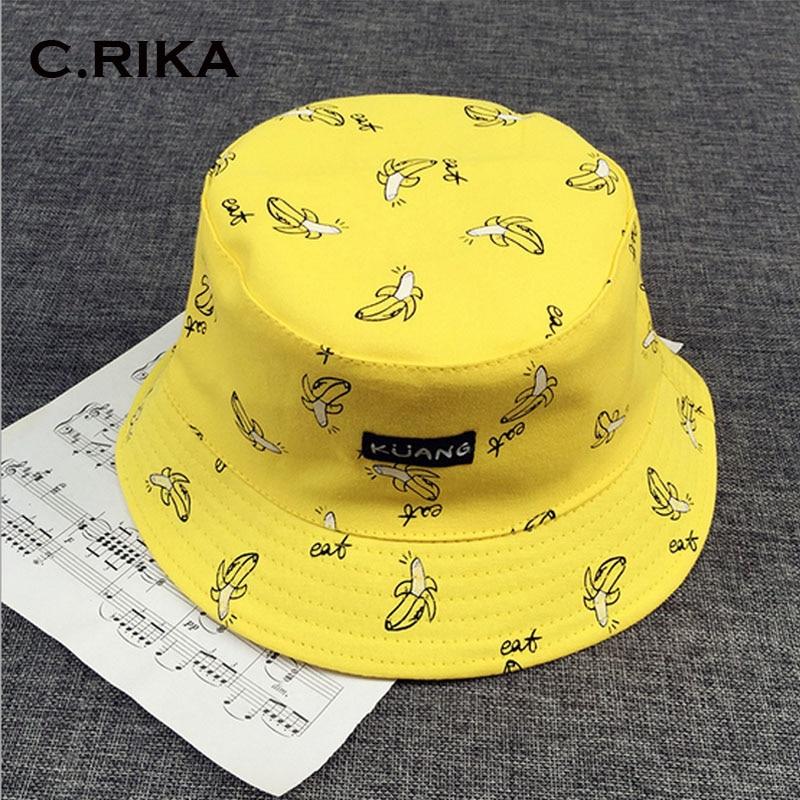 Панама, двусторонняя, унисекс, модная кепка-ведро в стиле хип-хоп, летняя кепка Gorro для мужчин, пляжная кепка с рисунком банана