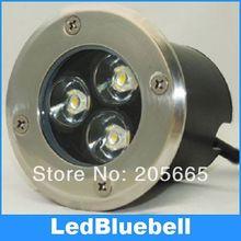 Led de alta potencia de 3 w LED luz subterránea de paisaje al aire libre impermeable de La Luz IP67 AC90 ~ 260 V