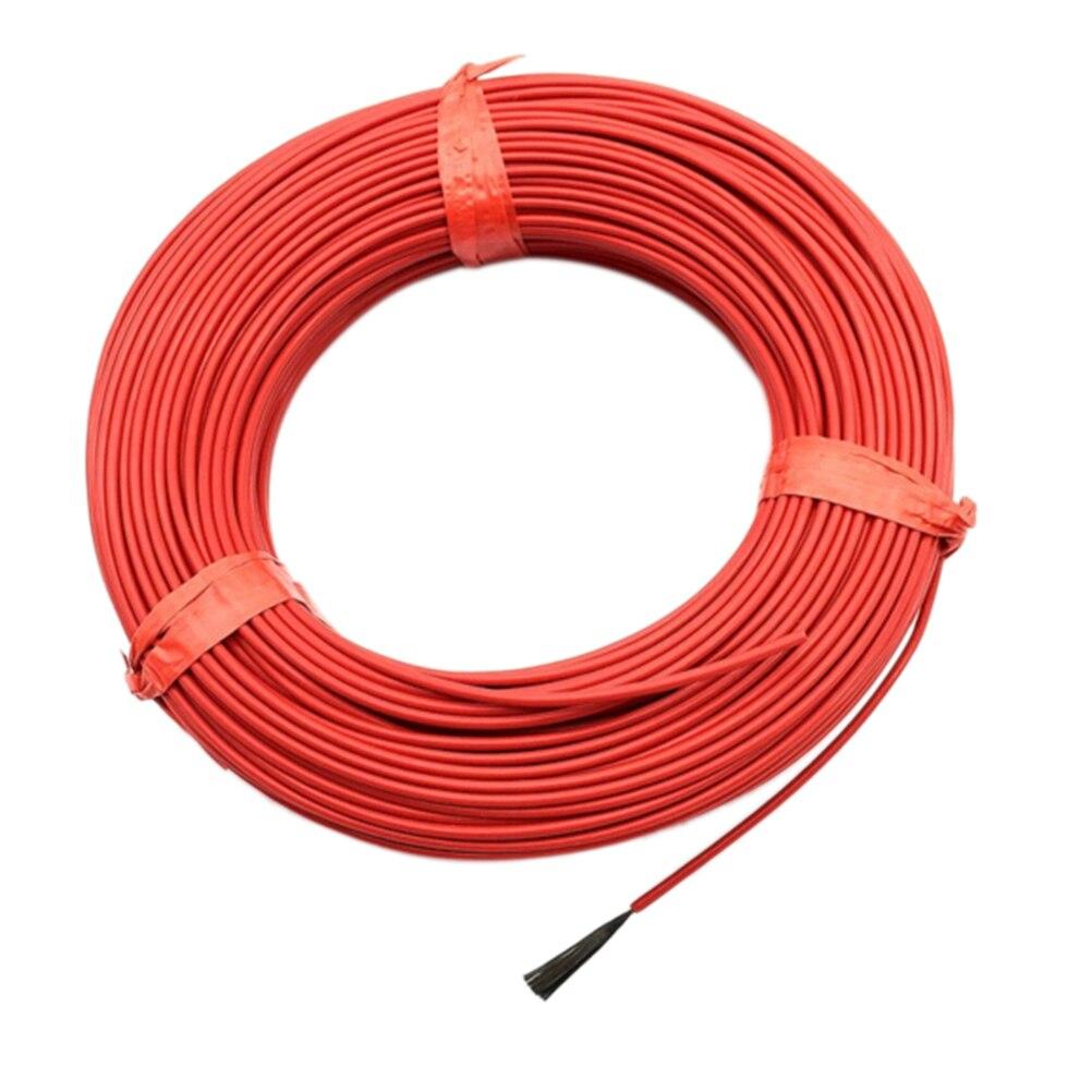 1 рулон, 20 м, 12 к, 33 Ом, 2,0 мм, углеродный теплый пол, кабель из углеродного волокна, нагревательный провод, электрическая Горячая линия, новый инфракрасный нагревательный кабель
