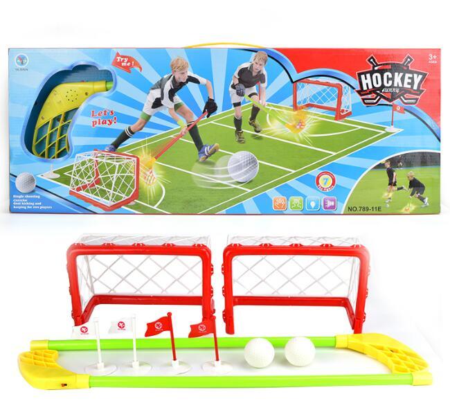 Juego de Hockey de plástico ecológico, juguetes deportivos para niños, juguetes interactivos para padres e hijos, regalo de Navidad