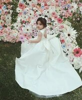 high quality flower girl dress with bow hollow back long train girls birthday party gowns kids clothes