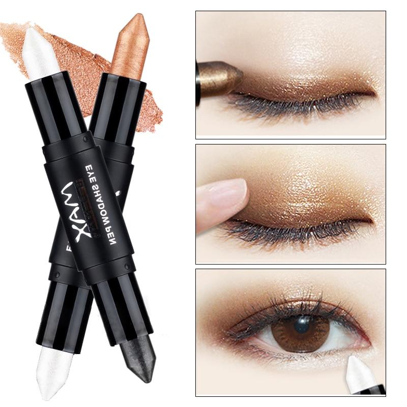 Новые популярные двухконцевые мерцающие карандаши для век для женщин, глаза для лица, осветляющие белые блестящие хайлайтеры, тени для век, макияж