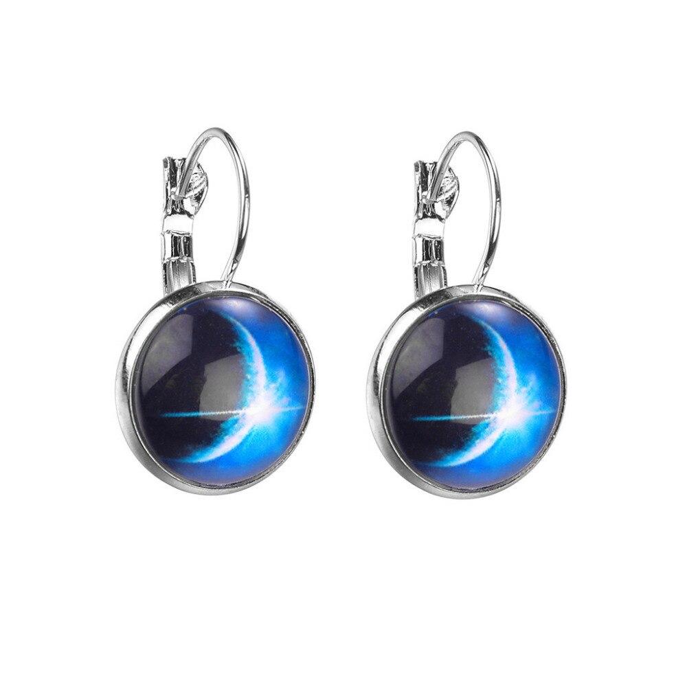 Mode Minimalistischen Stil Ohrringe Sternen Serie Blume Kristall Glas Cabochon Ohrringe Schmuck L0305