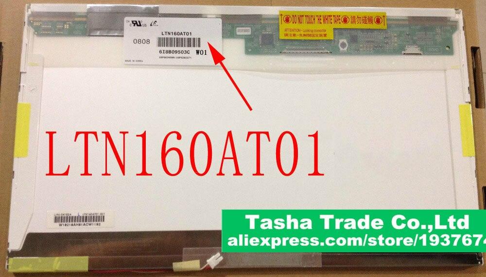 "LTN160AT01 LTN160AT02 HD de retroiluminación CCFL 16,0 ""LCD de ordenador portátil pantalla LED de Panel para ACER Aspire 6920G matriz"