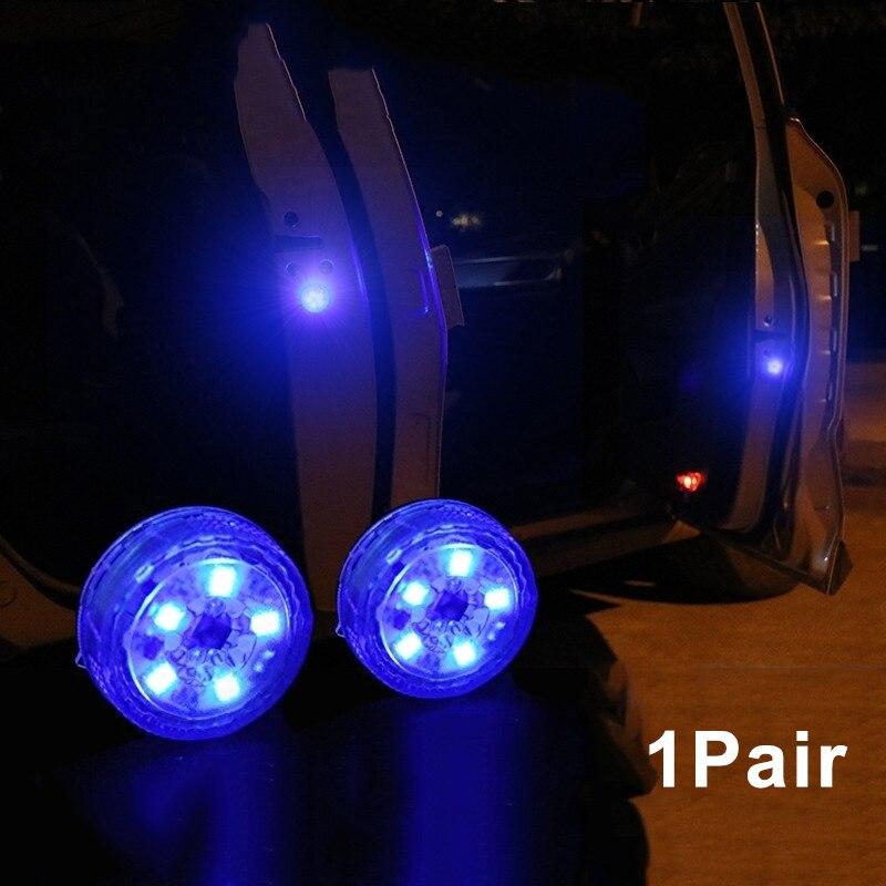 Oferta, 1 par, 5 LED, puerta de coche inalámbrico, apertura de advertencia, luz Flash, Anti-collid Universal JLD