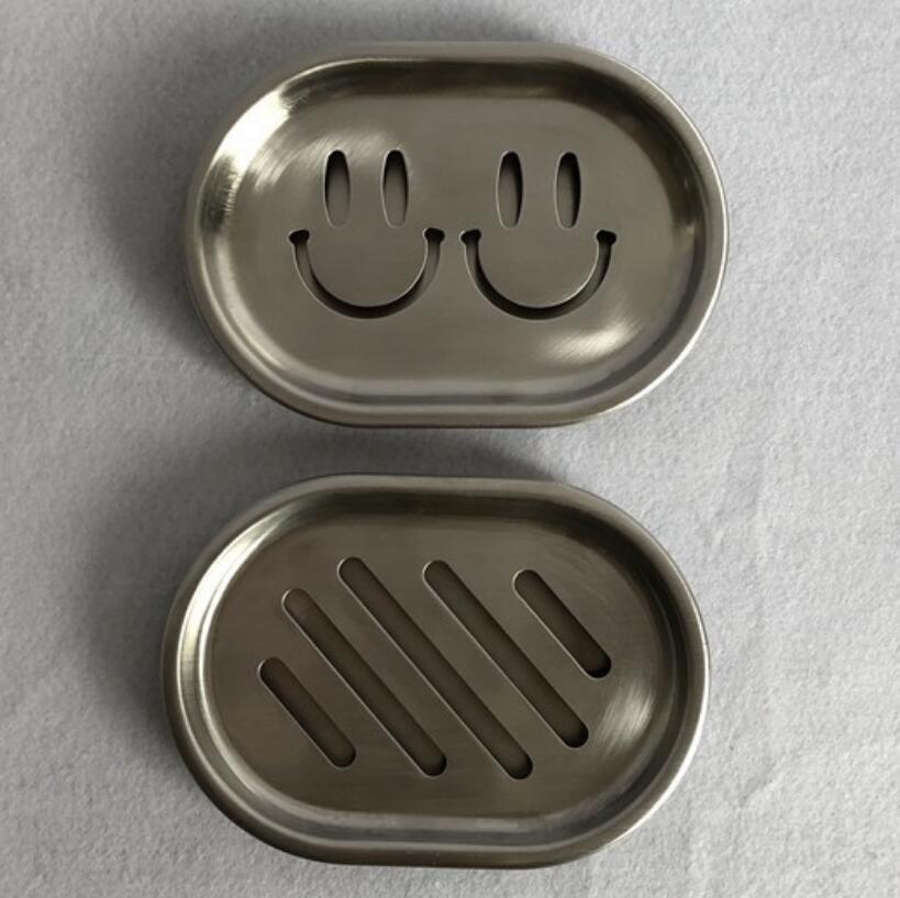 304 нержавеющая сталь двухслойная дренажная Коробка для мыла полоса/смайлик мыло