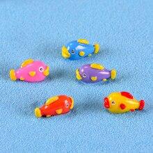 5 PCS Kleurrijke Ocean Fish Miniatuur Beeldje DIY Accessoires Poppenhuis Hars Decoratie Microscape Tuin Miniatuur Beeldjes
