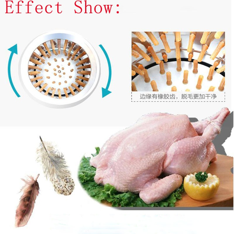 Electric Farm Poultry Plucking Chicken Duck Goose Hair Removal Machine Stainless Steel Automatic Depilator Hair-cutting Machine enlarge