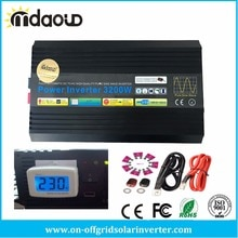 Convertisseur à piquage 3200W/6400W DC 12V/24V/48V cc à 110V/120V/220V/230V AC sortie donde sinusoïdale Pure