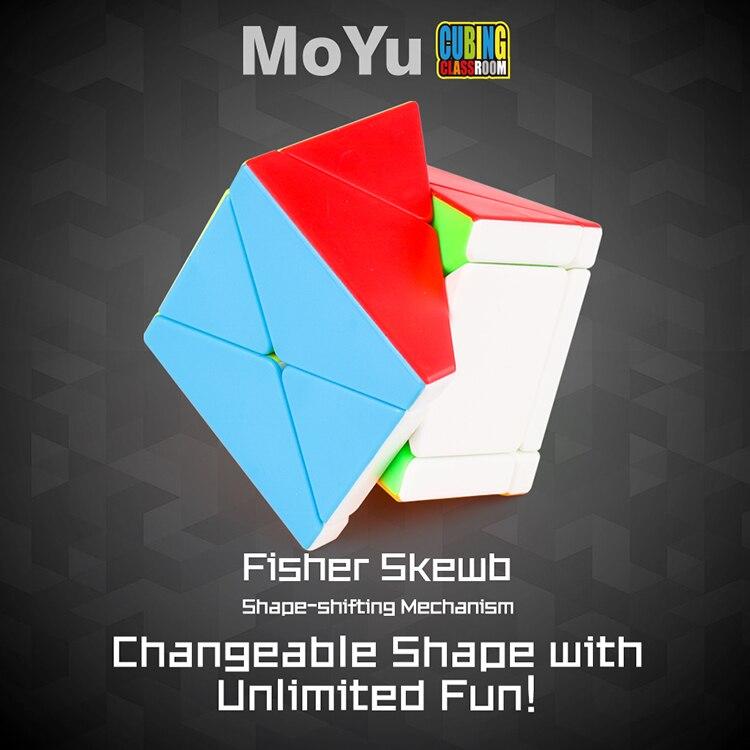 Moyu fisher x cubo x-cubo 3x3x3 cubo mágico enigma oblíquo original cubo mágico sala de aula educação brinquedos anti-stress para crianças