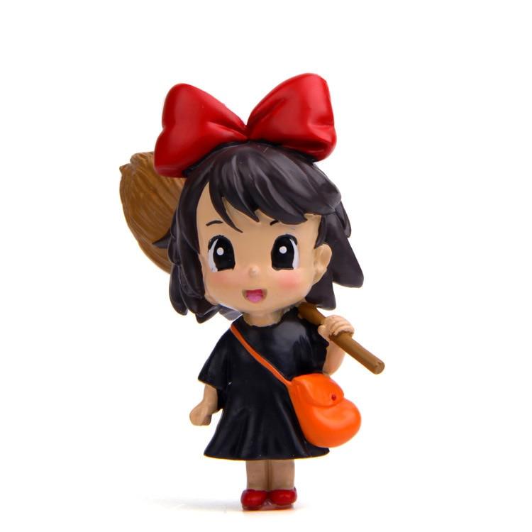 Figura de animación de acción de kiki, escoba encantada, servicio de entrega, figura de animación de acción, casa de muñecas, modelo de juguete de Diorama en miniatura para chico