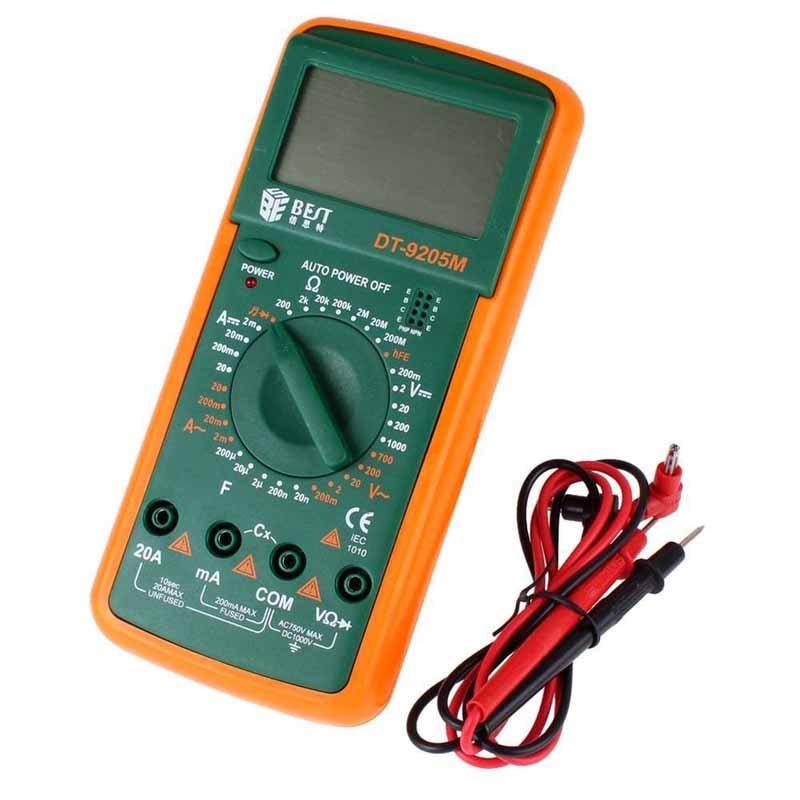 Gran pantalla LCD multímetro Digital digital DT de mejor DT9205M de prueba para multimetro timbre multímetro Digital medidor de 2900a actualizado