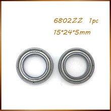 6802ZZ Bearing ABEC (1PC) 15x24x5 mm Metric Thin Section 6802 ZZ Ball Bearings 6802Z 6802Z