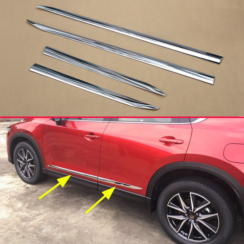 Für Mazda CX5 KF Neue Chrom Tür Körper Rahmen Streifen Zubehör Abdeckung Dekoration
