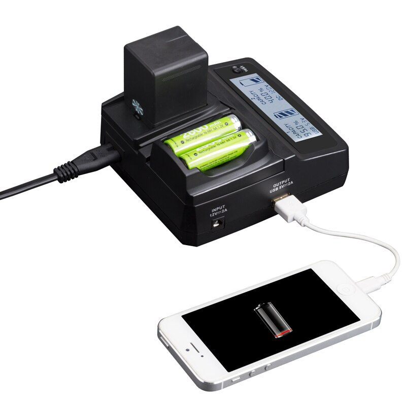 LVSUN Universal Camera+AA+Phone Car/AC BP-DC8 BPDC8 DC8 Charger Power For LEICA X1 X2 X-1 X-2 MINI-M X-VARIO MINIM XVARIO MINI