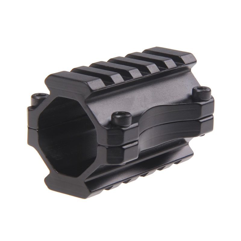 Funpowerland Hunting Tactical Universal Duplo Picatinny Rails Barrel Grampo Monte com 5 Slots