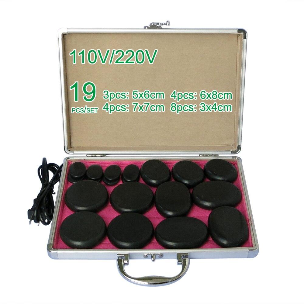 Nouveau chauffage électrique en gros et au détail 110/220 V SPA pierre à énergie chaude 19 pièces/ensemble avec boîte à chaleur (modèle 3 + 4 + 4 + 8)