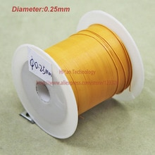 (20 meters/partij) triple Geïsoleerde Koperdraad Blote Koper Diameter 0.25 MM Buiten Diameter 0.45 MM Triple Isolatie Wikkeldraad