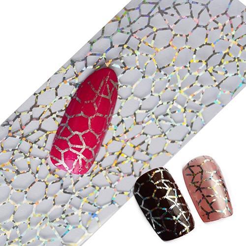 Lentejuelas brillantes para decoración de uñas, diseño de telaraña DIY, láminas para transferencia de uñas, pegatinas autoadhesivas, decoración deslizante
