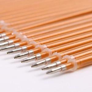 Милая гелевая ручка с золотыми чернилами, 60 шт./лот, сменная, 0,4 мм, оптовая продажа, офисные и школьные принадлежности, подарок для детей, бес...