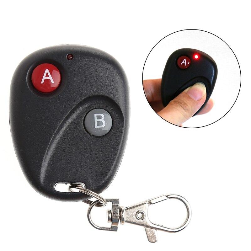 A & B Key DC12V Puerta de mando inalámbrico de radiofrecuencia transmisor de puerta de garaje 315/433MHz