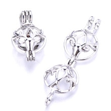 5pcs Beautiful Deer Head Pearl Cage Locket Pendant Jewelry DIY Aromatherapy Essential Oil Diffuser B