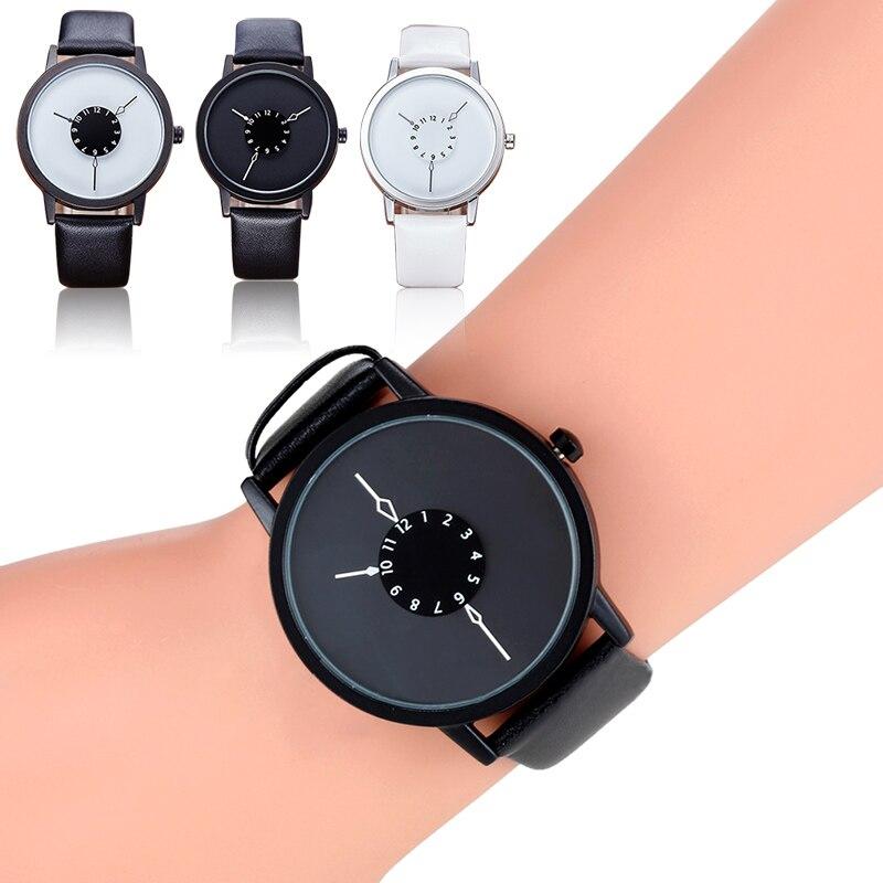 Casal quartzo relógio de pulso simples estilo elegante pulseira de couro presente relógio feminino relogios masculinos relógios tt @ 88