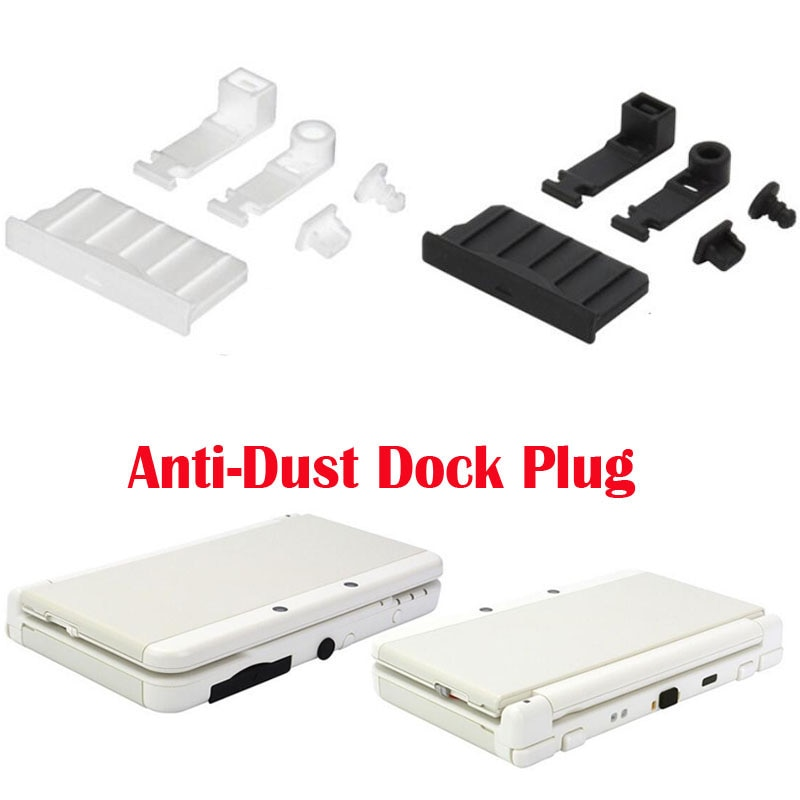 Silicone Anti-Dust Plug Earphone jack Charging Dock Dust Proof Protector Cap for Nintendo New 3DS XL