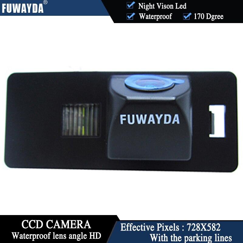 Cámara de visión nocturna LED FUWAYDA, cámara de visión trasera de coche, cámara de marcha atrás automática para HD CCD AUDI A1 A4 (B8) A5 S5 Q5 TT / PASSAT R36 5D