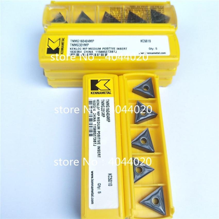 Kennametal TNMG160404MP KC5010 TNMG331MP KC5010 5 قطعة كربيد إدراج