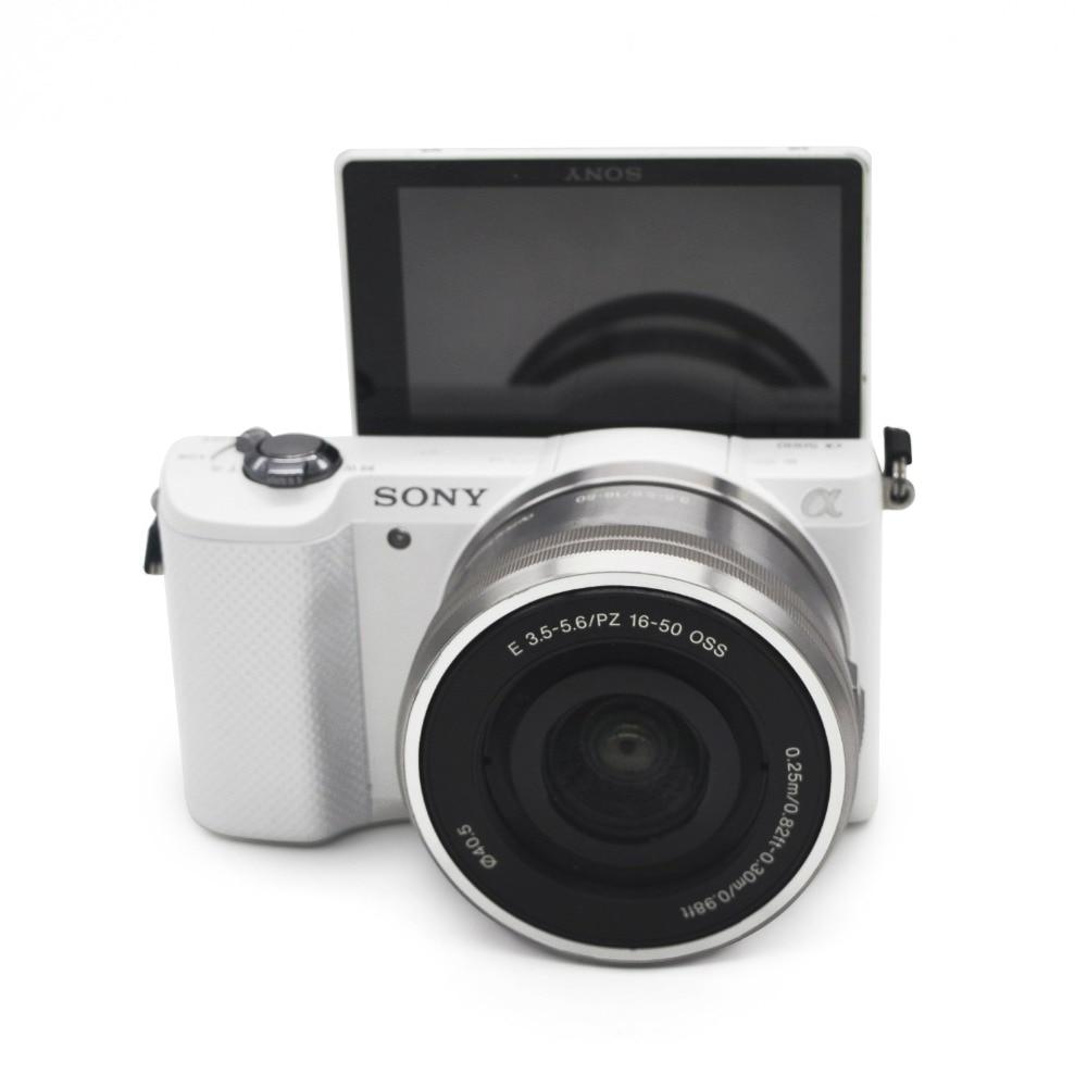 كاميرا رقمية مستعملة وأصلية من سوني ألفا A5000 بدون مرآة بعدسة OSS 16-50 مللي متر اختيارية (غير جديد بالكامل) FULL HD (1920x1080)