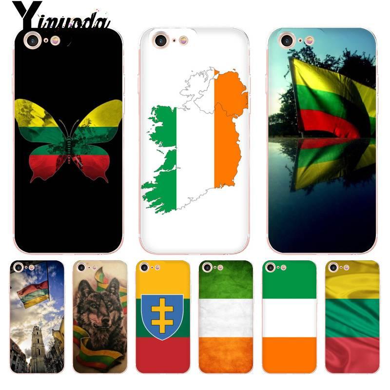 Funda Yinuoda para iPhone 7 6 X con bandera de Irlanda y Lituania, carcasa para iPhone 8 7 6 6S Plus X 5 5S SE XR XS XSMAX