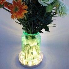 5 أجزاء/وحدة 6 بوصة Led زهرية ضوء BasesRGB متعدد الألوان مع التحكم عن بعد mariage دعوات زفاف زينة