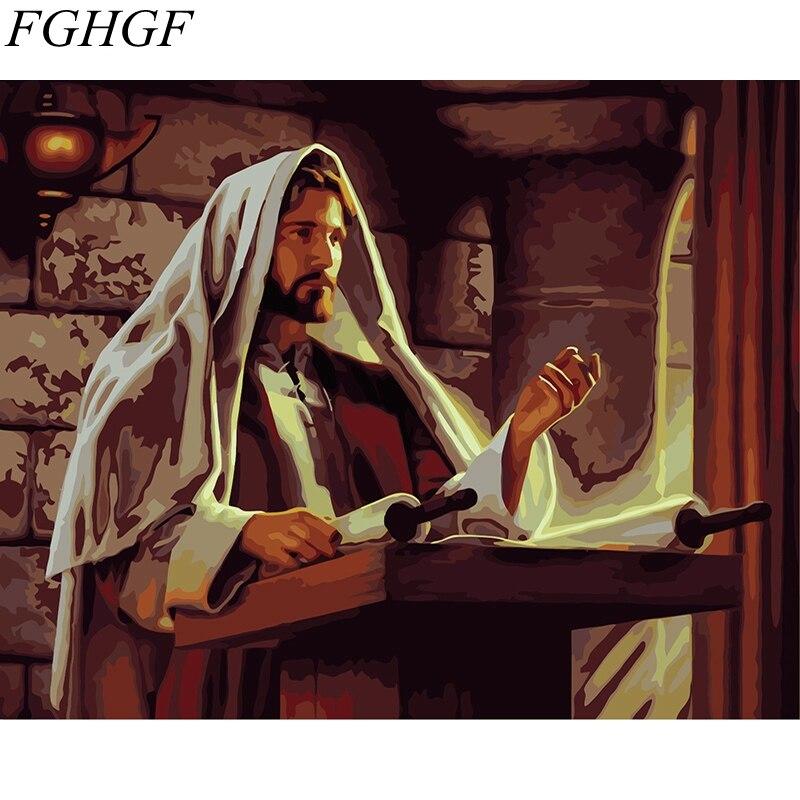 FGHGF, figura sin marco para hombres, pintura de pared, arte DIY, pintura por números, pintura de dibujo sobre lienzo para sala de estar