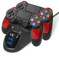 k ishako for ps4 controller charger dualshock 4 ps4 controller usb charging station dock playstation 4 charging games