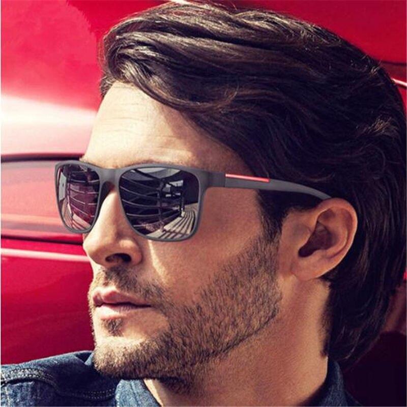 Солнцезащитные очки Мужские водительские, зеркальные винтажные солнечные очки с УФ-защитой, в стиле ретро