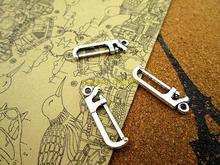 90 pièces scie Charmes Antiquité Tibétain argent scie Charmes pendentifs 26x7mm