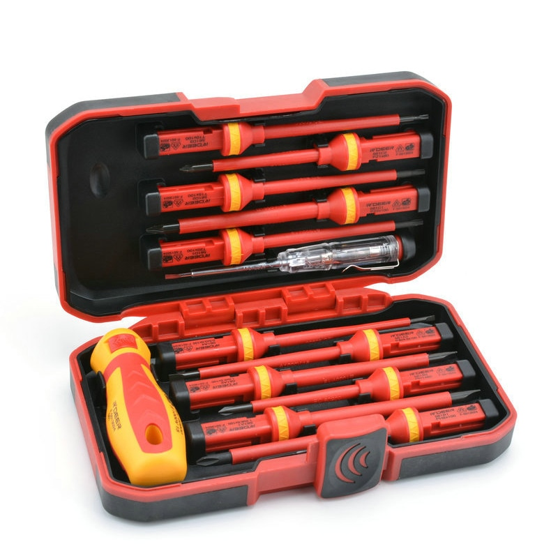 Nuevo juego de destornilladores aislados VDE 13 Uds CR-V destornillador Torx ranurado magnético de alta tensión 1000V herramientas de mano duraderas