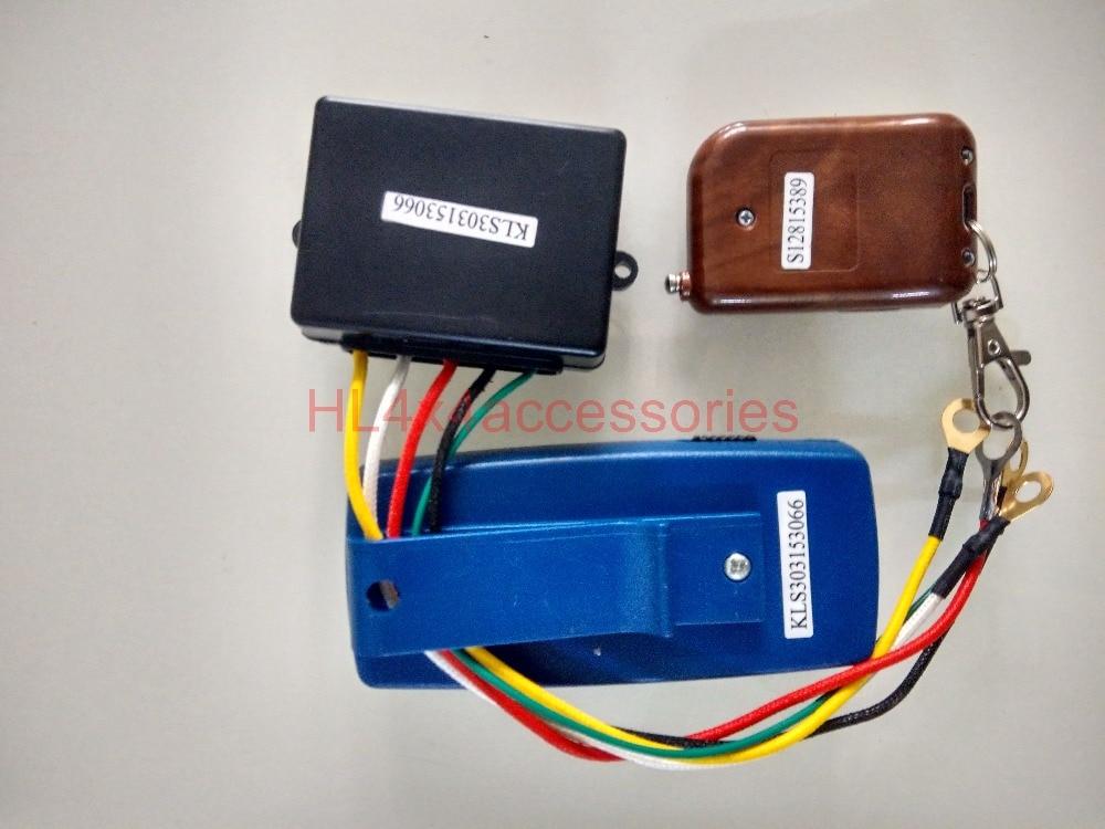 30M Wireless Winch Remote double Control kit 12 Volt  electric winch control  for Truck JEEP ATV  4WD 4x4 accessories