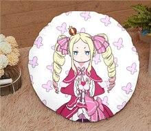Oktober. New Home Textil Re NULL Anime Beatrice 15,7 Zoll Micro-wildleder Stoff Runde Weiche Kissen Heißer Verkauf Geschenk #41192